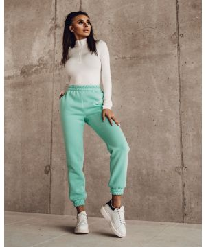 SPORTY LOOK Mint nohavice