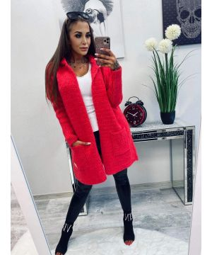 LB Red Soft Touch Cardigan