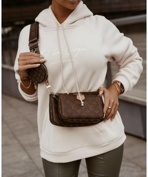 O la Voga Beige Soft Touch Hoodie