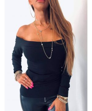 LB Black Shoulder Flash Top