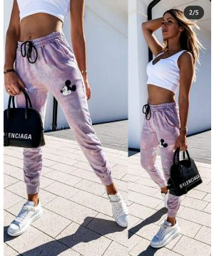 Colorful Mickey Face Jogger