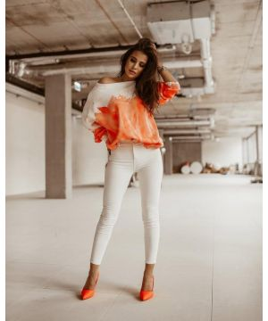 "O la Voga Orange ""Neon Color"" Jumper"