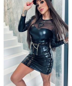 LB leather skirt