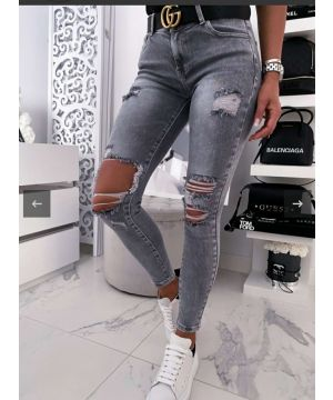 Dark Grey Strong Torn Jeans