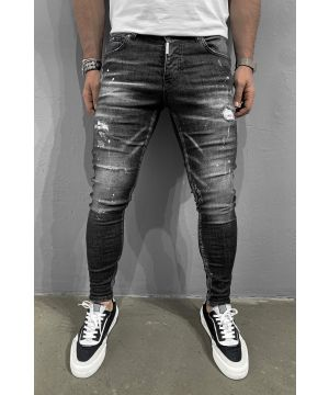 Black stripped style jeans 5944