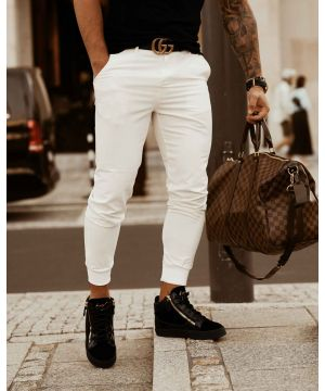 OLV ELEGANCE CASUAL Joggers White