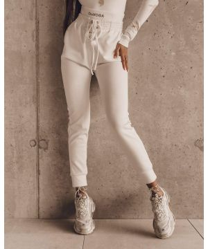 O la voga Double Belt Pants White
