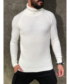 OPN White Basic Turtleneck Sweater