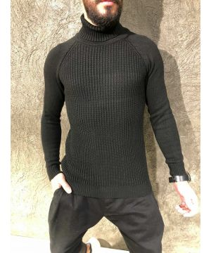 OPN Black Basic Turtleneck Sweater
