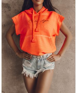 OLV SHORT SLEEVE  NEON ORANGE POLO