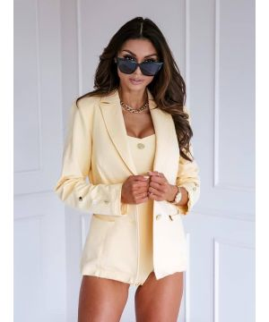 """Yellow ,,business style suit"""""""